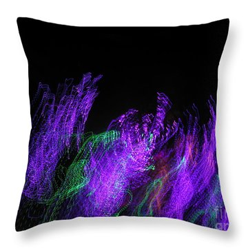 Purple Passion. Dancing Lights Series Throw Pillow by Ausra Huntington nee Paulauskaite