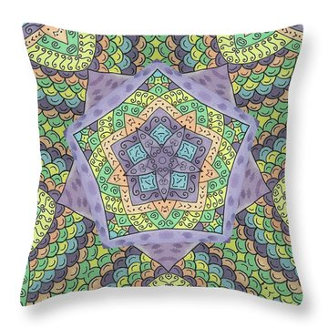 Purple Passion Throw Pillow by Susie WEBER