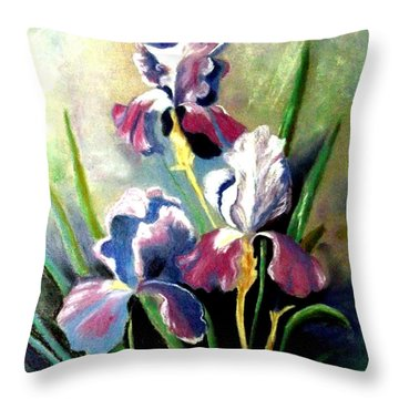 Purple Passion Throw Pillow by Zelma Hensel