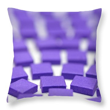 Purple Pattern Throw Pillow by Amy Cicconi