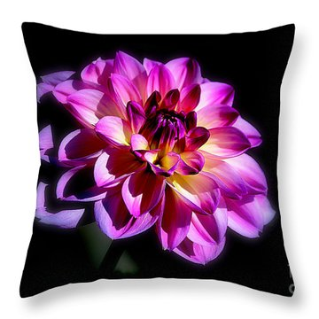 Throw Pillow featuring the photograph Purple Pearl  by Irina Hays