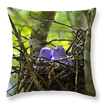 Purple Peeps Pair Throw Pillow by Al Powell Photography USA