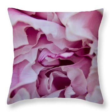Purple Peony Throw Pillow