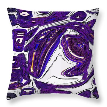 Purple People Eater Throw Pillow by Alec Drake