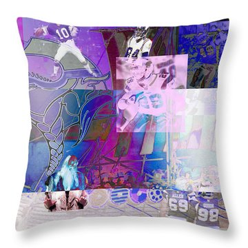 Purple People Eaters Throw Pillow by Jimi Bush