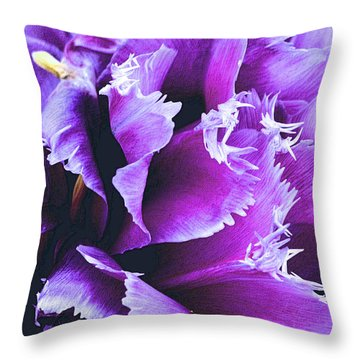 Purple Perfection Throw Pillow by Nadalyn Larsen