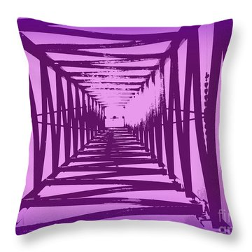 Throw Pillow featuring the photograph Purple Perspective by Clare Bevan