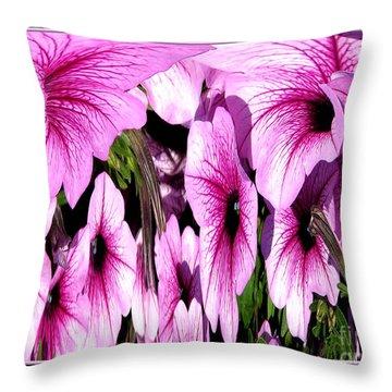 Purple Petunias Abstract Throw Pillow by Rose Santuci-Sofranko