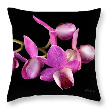 Purple Phal Throw Pillow