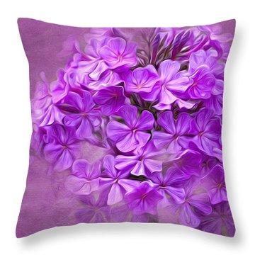 Purple Phlox Throw Pillow by Lena Auxier