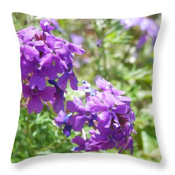 Purple Phlox Throw Pillow