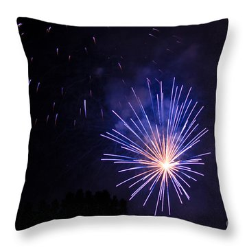 Throw Pillow featuring the photograph Purple Power by Suzanne Luft