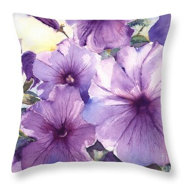 Purple Profusion Throw Pillow