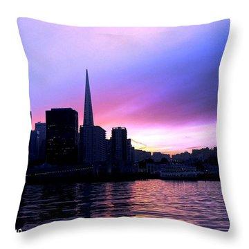 Purple Pyramid Throw Pillow