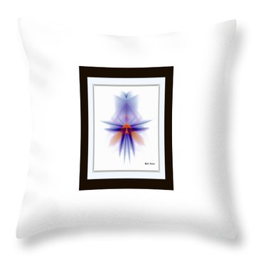 Throw Pillow featuring the painting Purple Rain by Rafael Salazar