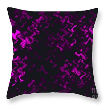 Throw Pillow featuring the painting Purple Ripples by Anita Lewis
