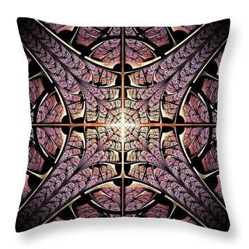 Purple Shield Throw Pillow by Anastasiya Malakhova