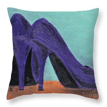 Purple Shoes Throw Pillow
