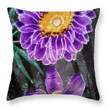 Throw Pillow featuring the photograph Purple Silk by Fortunate Findings Shirley Dickerson