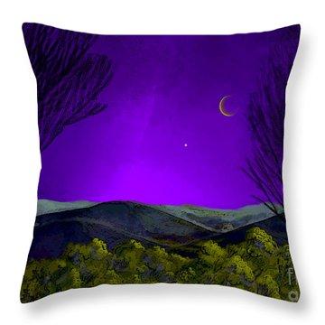 Purple Sky Throw Pillow by Carol Jacobs