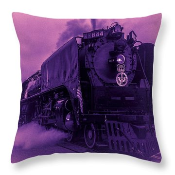 Purple Smoke Throw Pillow