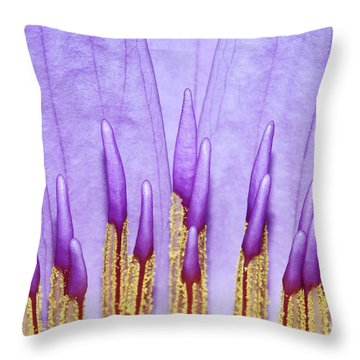 Purple Spires Throw Pillow