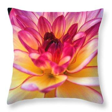 Purple Star Flower Throw Pillow by Beril Sirmacek
