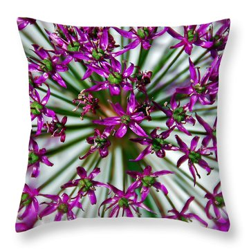Purple Starlight Throw Pillow by Aimee L Maher Photography and Art Visit ALMGallerydotcom