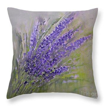 Purple Lavender Summer Throw Pillow