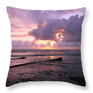 Throw Pillow featuring the photograph Purple Pink Sunset by Athena Mckinzie