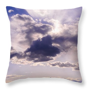 Purple Sunset On The Hudson River Throw Pillow