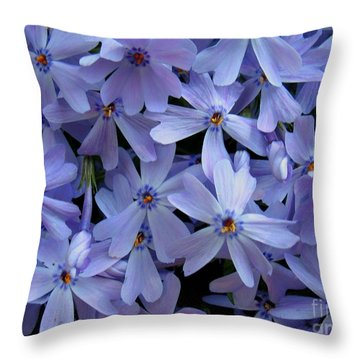 Purple Sunshine Throw Pillow by Patti Whitten