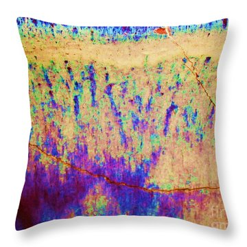 Purple Tan Stone Abstract Throw Pillow