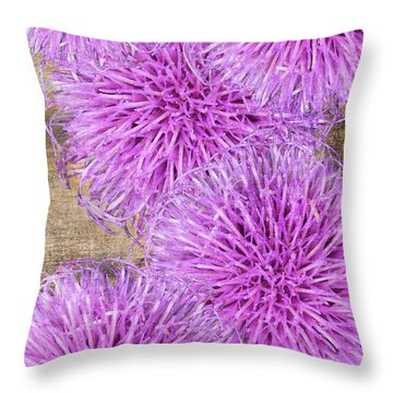 Purple Thistle - 2 Throw Pillow