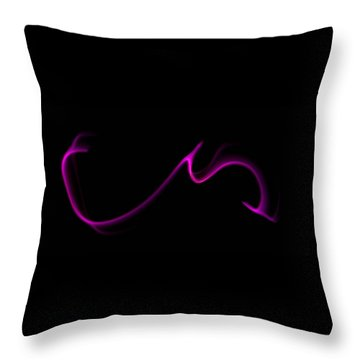 Purple Twister Throw Pillow