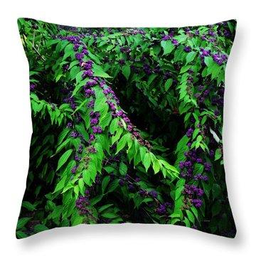Purple Vibe Throw Pillow by Deborah  Crew-Johnson