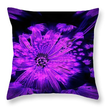 Purple Wisps Of Flower Throw Pillow