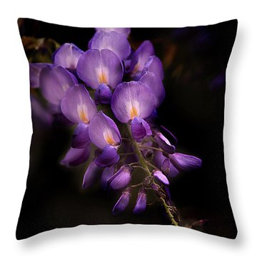Purple Wisteria Throw Pillow
