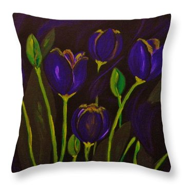 Purpleluscious Throw Pillow by Celeste Manning