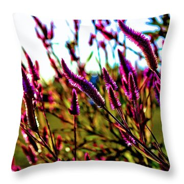 Throw Pillow featuring the photograph Purpleness by Tyson Kinnison