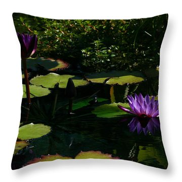 Purplette Throw Pillow by Doug Norkum