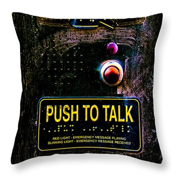 Push To Talk Throw Pillow by Bob Orsillo