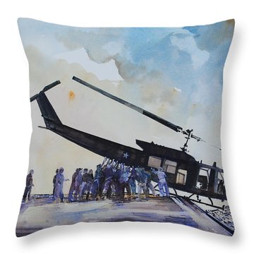 Pushover - South China Sea 1975 Throw Pillow