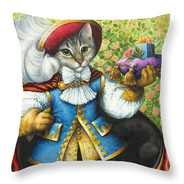 Puss-in-boots Throw Pillow