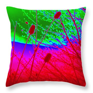 Throw Pillow featuring the photograph Pussy Willow Transformed by Cathy Shiflett
