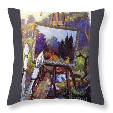 Put Color In Your Life Throw Pillow by Eloise Schneider