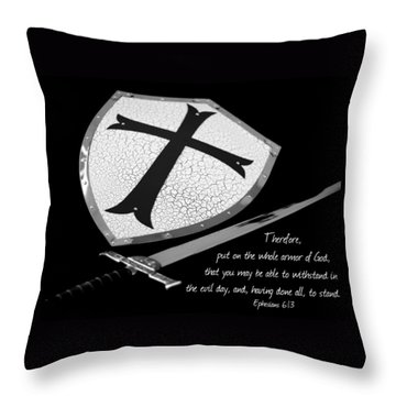 Put On The Armor Ephesians 6 Throw Pillow