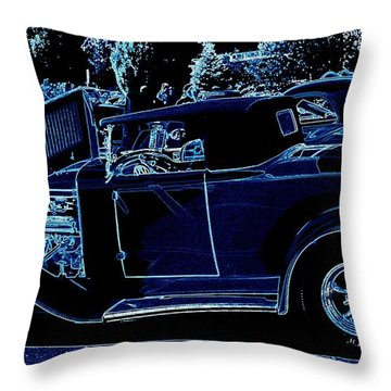 Put The Top Down Throw Pillow by Bobbee Rickard