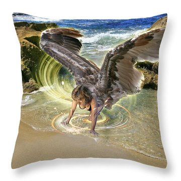 Put Your Trust In Him Throw Pillow