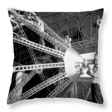 Putting The Nose On The Akron Throw Pillow